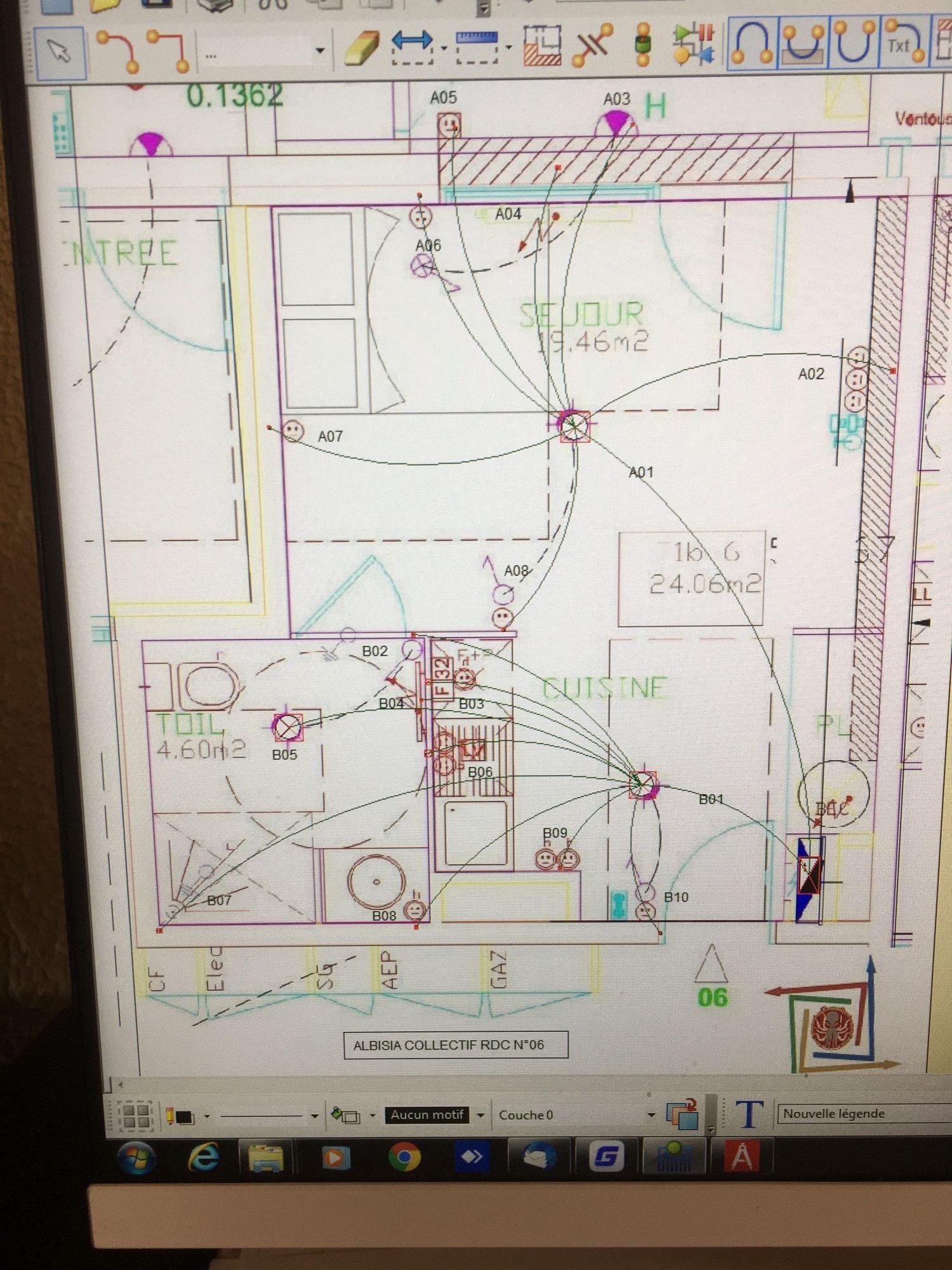 Plan distribution de pieuvre électrique